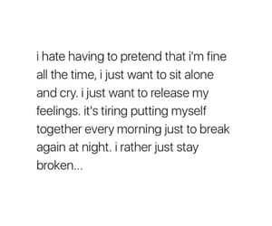 alone, anxiety, and broken image