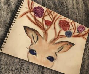 art, deer, and draw image