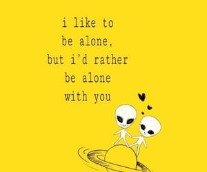 alien, alone, and yellow image