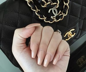 nails, bag, and chanel image