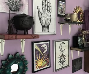books, witch, and candles image