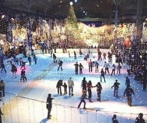 christmas, winter, and ice image