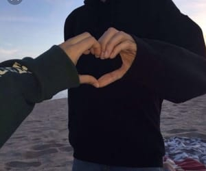 couple, heart, and hoodie image