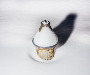 winter, snow, and hydrant image