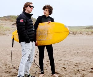 beach, behind the scene, and surf board image