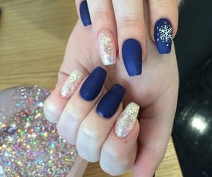 nail art, winter, and nails image