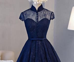 blue homecoming dress and navy homecoming dress image