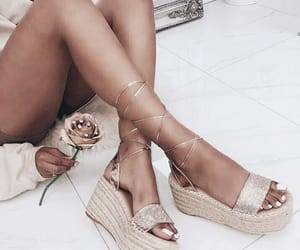 aesthetic, rose, and espadrille image