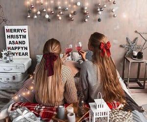 girl, christmas, and home image
