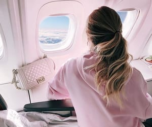 travel, pink, and hair image