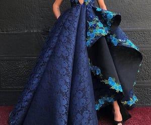 красота, мода, and Синее платье image