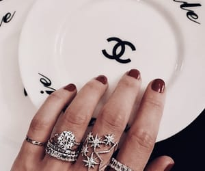 nails, chanel, and jewelry image
