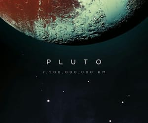 pluto, space, and planet image