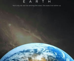 earth, space, and stars image