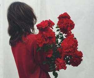 aesthetic, flowers, and red aesthetic image