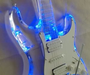 character, guitar, and neon image