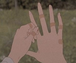 aesthetic, anime, and hands image