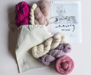 pretty, yarn, and wool image