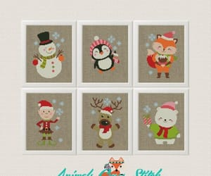 christmas card, etsy, and christmas pattern image