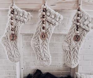 christmas, decoration, and stockings image