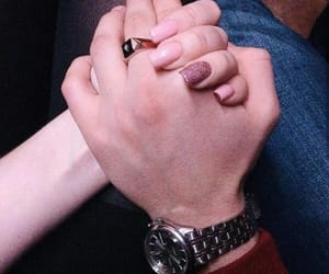 ask, holding hands, and romance image