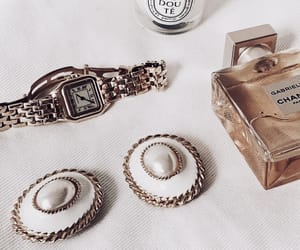 jewelry, gold, and chanel image