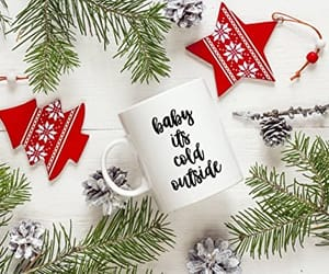 christmas, gift, and home design image