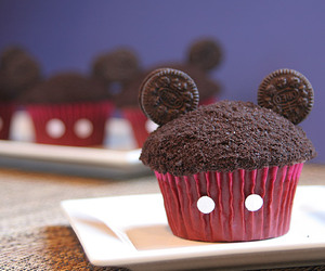 cupcakes, chocolate, and disney image