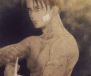snk, aot, and levi ackerman image