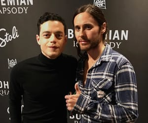 jared leto and rami malek image