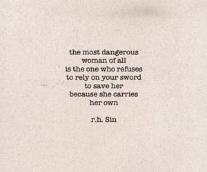 quotes, woman, and dangerous image