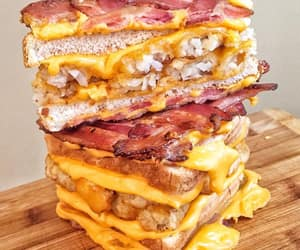 bacon, cheese, and meat image