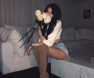 madison beer, flowers, and rose image