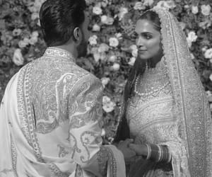 black and white, bollywood, and bride image