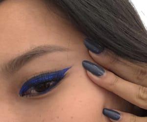 blue, make up, and nails image