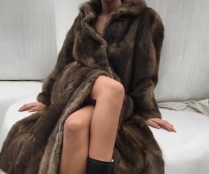 clothing, coat, and fake fur image