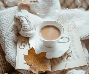 coffee, snow, and sweater image