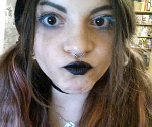 black, blue, and goth image