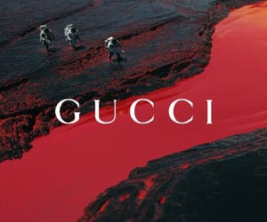 gucci, theme, and red image