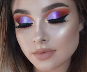 makeup, girl, and lashes image
