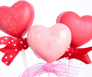heart, lollipop, and chocolate image
