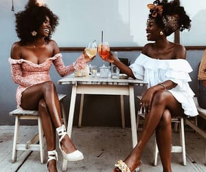 Afro, black, and girls image