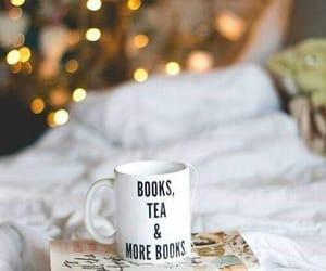 book, tea, and christmas image