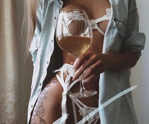 bra, white, and clothing image