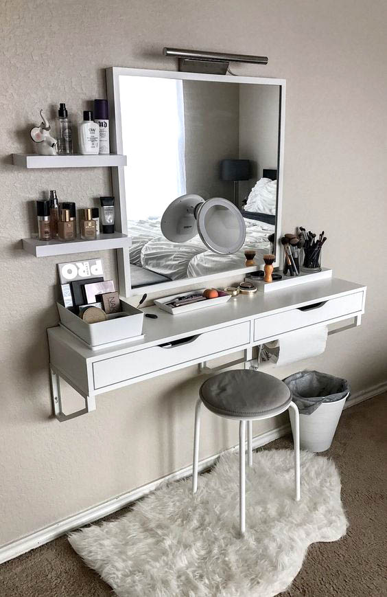 Best Vanity Ideas for small bedrooms #vanity #bedroom ...