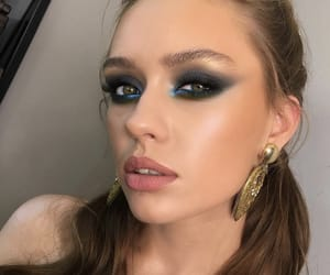 blue, eyebrows, and glow image