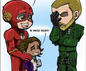 barry, daughter, and the flash image