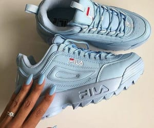 shoes, Fila, and blue image
