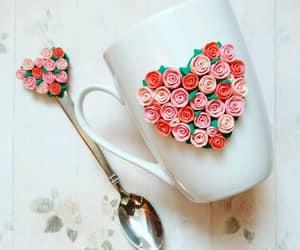 cup, heart, and mug image