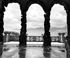 black and white and italy image